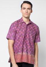 Pomona Batik Kemeja Lengan Pendek - Star Ungu