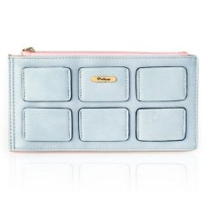 Pretty Zys - Woman's Shape Of Card Wallet DO458 Blue - Dompet Wanita