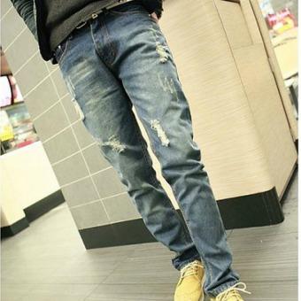 Outlet Men's Haren Casual Jeans Blue - Intl