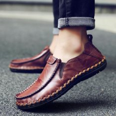 Pria Sepatu Kulit Sepatu Casual Bekerja Sepatu Sepatu Mengemudi Men Leather Shoes Casual Shoes Working Shoes Driving Shoe - Int'L