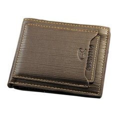 Pria Wallet Men Leather Purse Dompet - Coffee