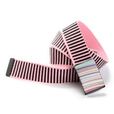 Printing Canvas Belt Rainbow Stripes Canvas Belt (Pink)