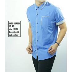 Promosi Kemeja Semi Slimfit YD65 - Standart ( Kaos Jas Korea Fashion Slim Fit) murah