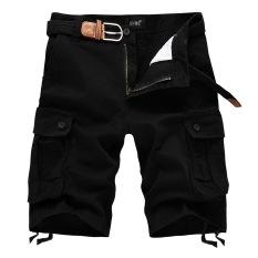 Pure Cotton Mens Casual Shorts (Black) - Intl
