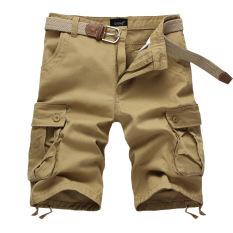 Pure Cotton Mens Casual Shorts (Khaki) - Intl