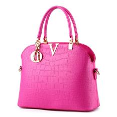 Quality Assurance 2016 Fashion New Women Handbag PU Leather BagsShoulder Tote Bag Luxury Handbag Variety Of Colors FreeShipping (Fuchsia) - Intl