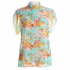 Quality Summer Style Tops Flower Print Cheap Clothes China Chiffon Casual Female Blusa Renda Fashion T Shirt Women Tops Tee S-2XL Style 3