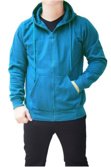 Quincy Jacket Zipper Hoodie Man - Biru Turkish