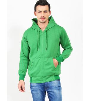 Quincy Jacket Zipper Hoodie Man - Hijau