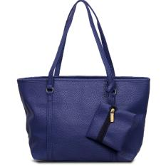 Quincy Label Eve Tote Bag Bonus Tas Kecil - Navy