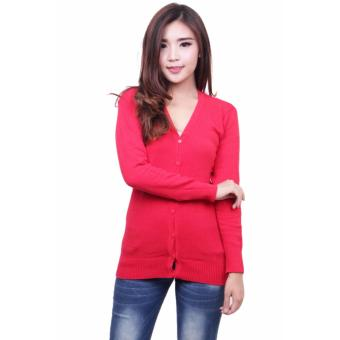 QuincyLabel Basic Cardigan Red