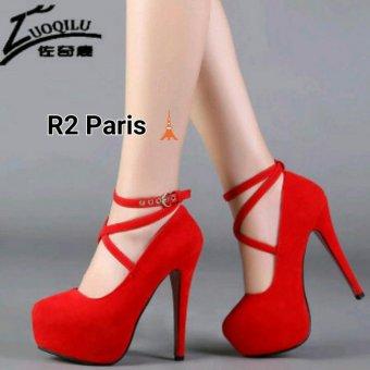 R2 Paris Sepatu High Heels Straps Giani - Merah