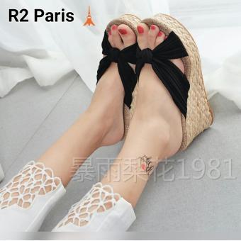 R2 Paris Wedges Sandal Valeria - Hitam