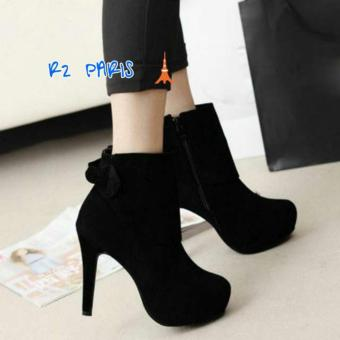 R2Paris High Heels Boots ELIVIA Hitam