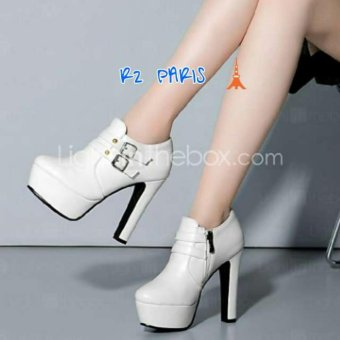 R2Paris High Heels Boots Marive Putih