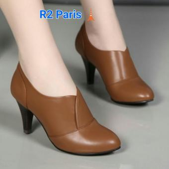 R2Paris High Heels Boots Saga - Coklat
