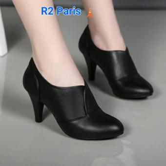 R2Paris High Heels Boots Saga - Hitam
