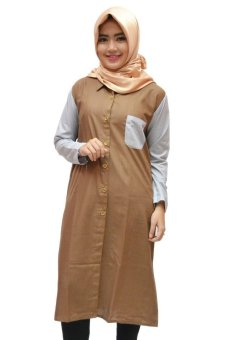 Radeeva Tunik Kaffah - Brown
