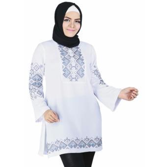 Raindoz Baju Muslim Wanita Adiva RGS 053 - Putih