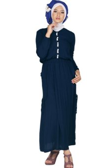 Raindoz Baju Muslim Wanita - Biru