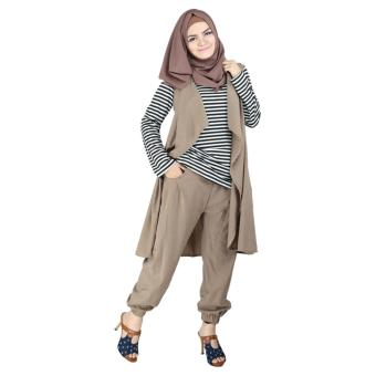 Raindoz Tunik Muslimah RNYx124 Cream Comb