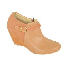 Raindoz Women Ankle Wedges Tan