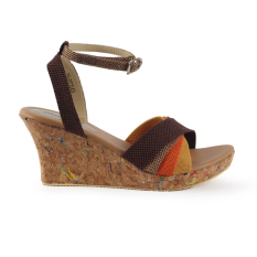 Raindoz Women Wedges Cross Strap - Kombinasi