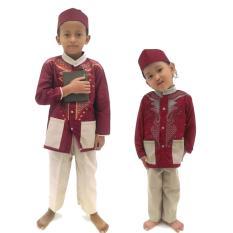Rasya Setelan Busana Muslim koko anak 2-12 Th - Maroon
