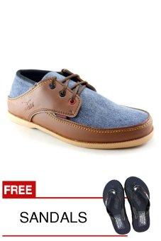 Redknot Brianette 11 Tan Blue Sepatu Pria