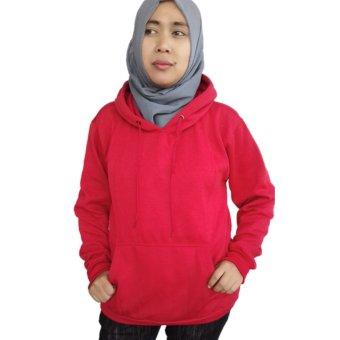 Refill.s jaket jumper polos(merah terang)