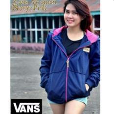 Reunion Shop - Jaket Wanita Vans Navy Pink (Woman Jacket)