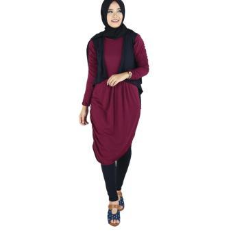 RKK 012 - Atasan Muslim Wanita - Marun
