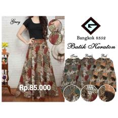 Rok payung batik keraton>NHJ fashion> warna: red , purple , green , grey