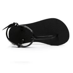 Roman Sandals Fashion Wild Women Sandals Flat Flip-flops Sandals (Black) - Intl