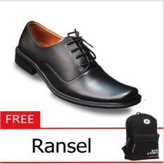 S. van Decka R-XTK016 Sepatu Kasual Pria - Hitam+ Free Tas Ransel