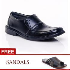 Salvo sepatu formal KF402 FREE B03 HITAM