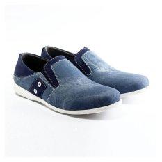 Salvo Sepatu pria denim SC Biru