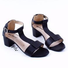 San Dona T-Strap Block Mid Heel Sandals .