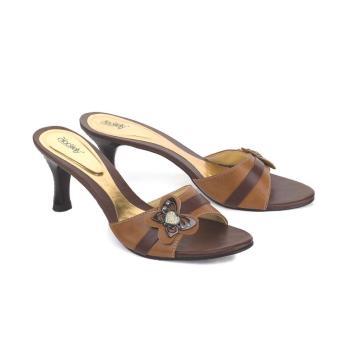 Sandal High Heels Wanita | Sendal Cewek Warna Coklat - LKI 139