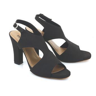 Sandal High Heels Wanita | Sendal Cewek Warna Hitam - LAX 758