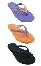 Sandal Swallow SLIMFEET Wanita - Bundle 3 Pasang Violet-Orange-Hitam