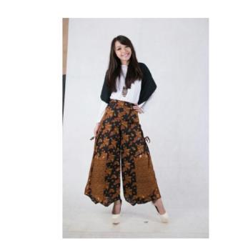 SB Collection Celana Panjang Agnes Kulot Rok Batik-Coklat