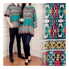 SB Collection Couple Batik Atasan Bonita Songket Blouse Tunik Dan Kemeja  -Multicolor b3e4d27009
