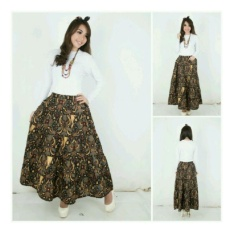SB Collection Rok Maxi Akina Batik Long Skirt-Hitam