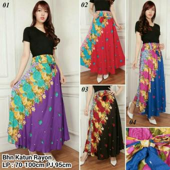 SB Collection Rok Maxi Dahlia Long Skirt-Merah