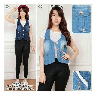 SB Collection Rompi Simple Jacket-Biru muda