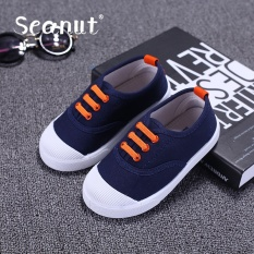 Seanut Children's Cloth Shoes Babys Casual Shoes Fashion Breathable Sneakers(Blue) - intl
