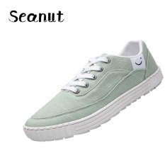 Seanut Men Lace-Up Carom Cloth Sport Shoes Studens Sneakers (Green) - Intl
