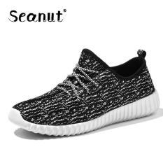 Seanut Men's Casual Shoes Men Shoes Low Cut Fashion Sneaker (Black, White) - Intl