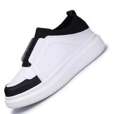 Seanut Woman Skater Shoes Breathable Casual Shoes Platform Shoes (White)